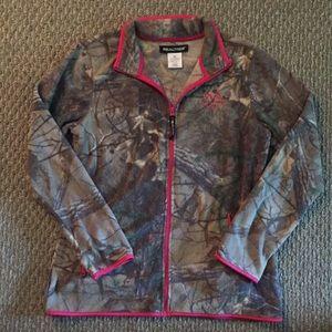 Realtree camo fleece jacket medium
